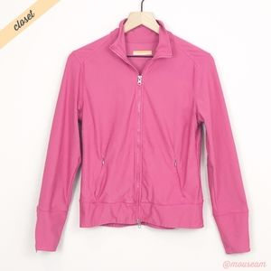 [Lucy] Pink Lucy Tech Zip Front Workout Jacket